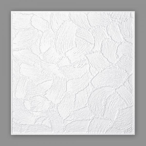 Styropor Deckenplatten Kellenputz 50 x 50