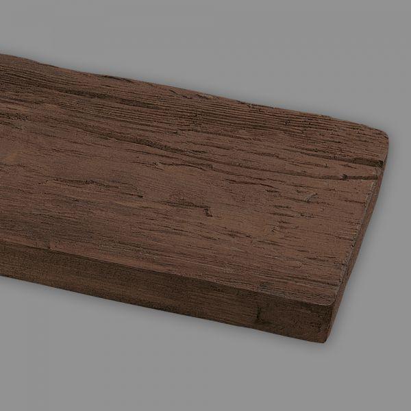 Wandbrett Holzimitat Eiche dunkelbraun, 130 x 30 mm, Länge 260 cm