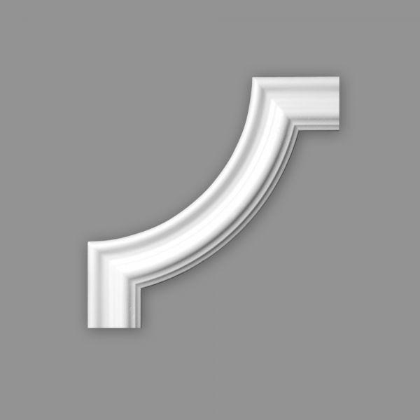 Zierleiste Viertelbogen BI 60, r= 180 mm, Set 4 Stück