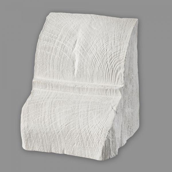 Konsole 12 x 12 cm für Deckenbalken Holzimitat weiß
