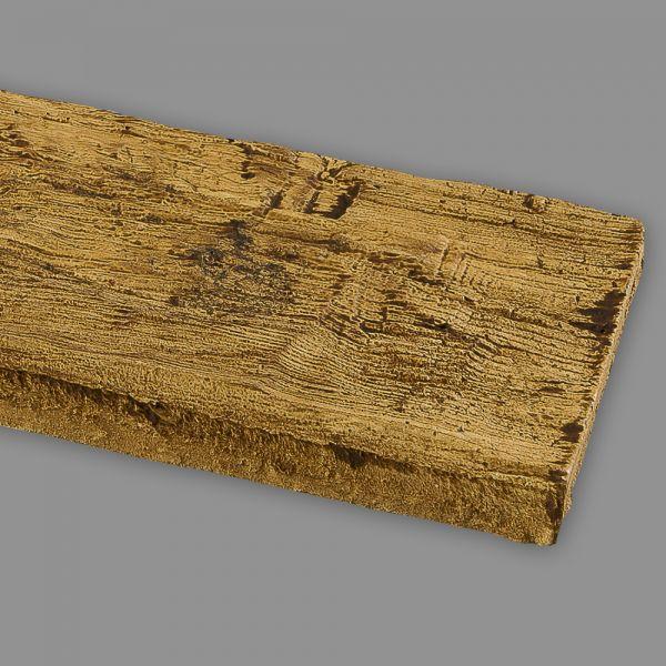 Wandbrett Holzimitat Eiche hellbraun, 130 x 30 mm, Länge 260 cm