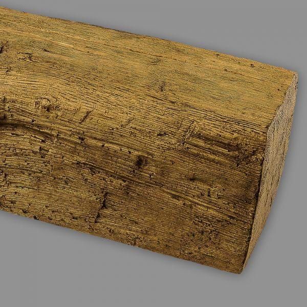 PU Balken Deckenbalken Holzimitat Eiche, 12 x 12 cm, hellbraun Länge 4 m
