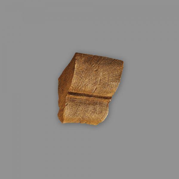 Konsole 9 x 6 cm für Deckenbalken Holzimitat Eiche hellbraun