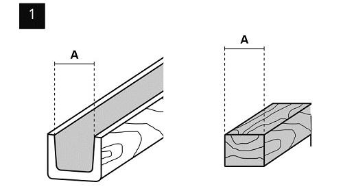 1-Stuck-Deckenbalken-PU-Montage