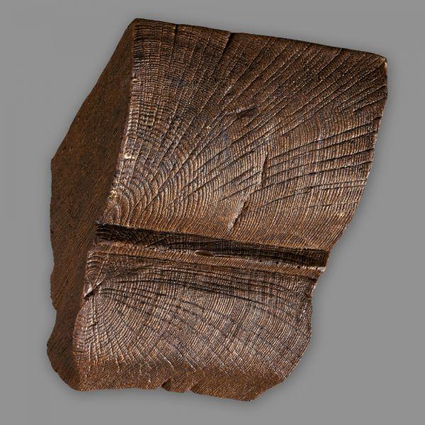 Konsole 20 x 13cm für Deckenbalken Eiche Holz Imitat dunkelbraun