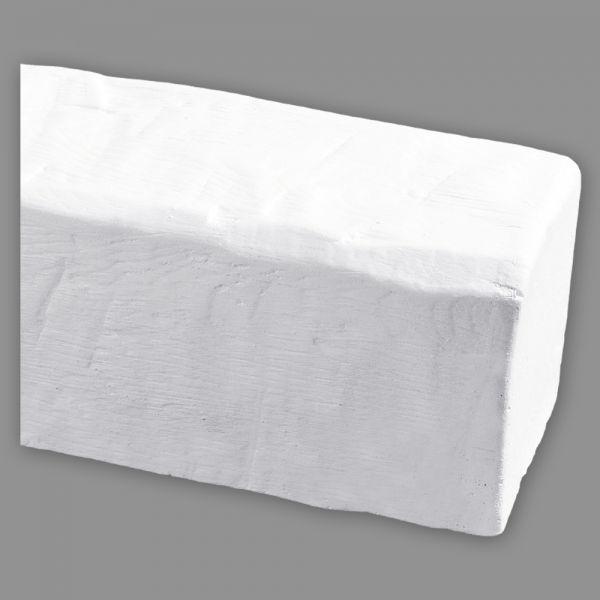 Deckenbalken Holz weiß Imitat, 12 x 12 cm, Länge 4 m