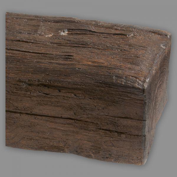 Deckenbalken Imitat Eiche Echtholz, 19 x 17 cm, Länge 3 m, dunkelbraun PU