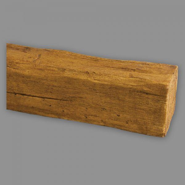 Deckenbalken Holz-Imitation Eiche, 9 x 6 cm, Länge 4 m, hellbraun PU