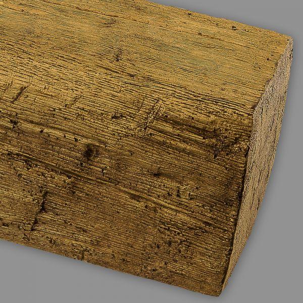 Deckenbalken Holz Eiche Imitat, 20 x 13 cm, Länge 3 m, hellbraun PU Balken