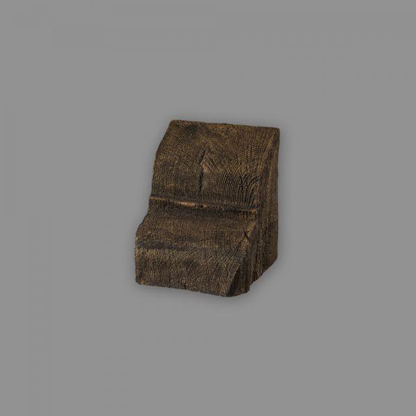 Konsole 9 x 6 cm für Deckenbalken dunkelbraun Holzimitat Eiche