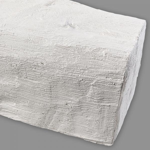PU Schaum Holz Imitat Deckenbalken weiß 2m