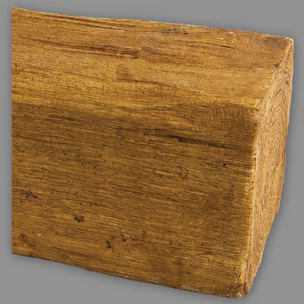 Deckenbalken Holz-Imitat Eiche, 20 x 13 cm, Länge 4 m, hellbraun (PU)