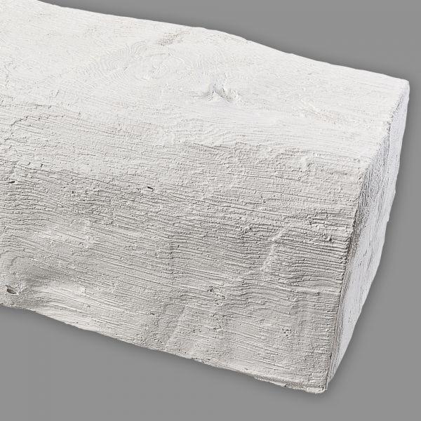 weißer Deko Holzbalken Deckenbalken PU Polyurethan