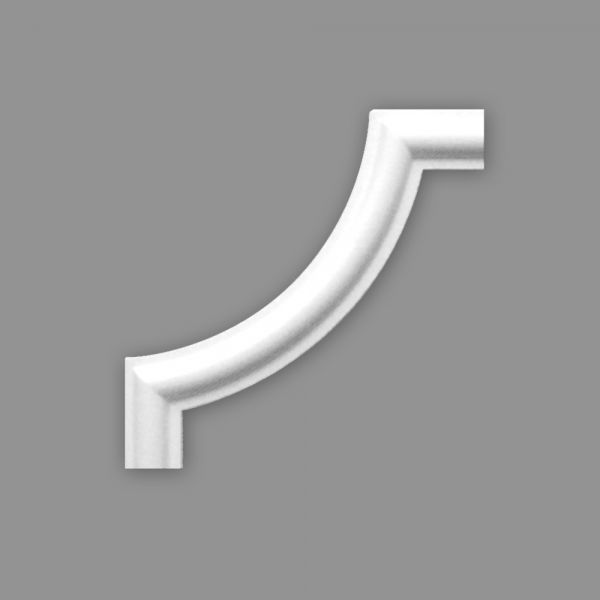 Zierleiste Viertelbogen BI 20, r= 85 mm, Set 4 Stück