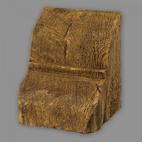 Konsole 20 x 13 cm für Deckenbalken Eiche Holzimitat hellbraun