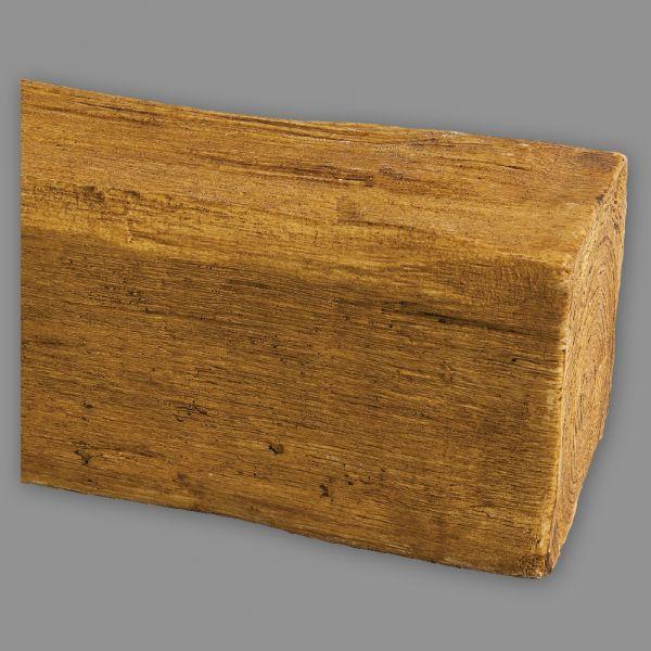 Deckenbalken Holz Imitat Eiche, 12 x 12 cm, Länge 2 m, hellbraun