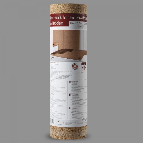 Naturkorkrolle 4 mm - 2,5 qm, Wärme- und Trittschalldämmung