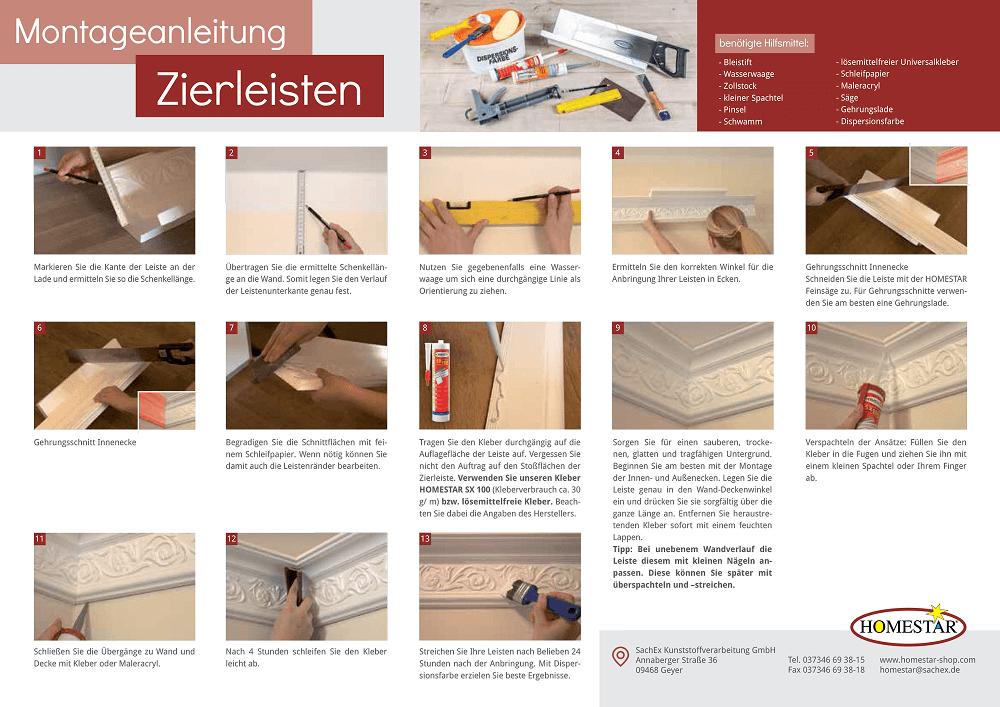 Berühmt Montagenaleitung - Styroporleisten & Co. | Homestar-Shop KG69