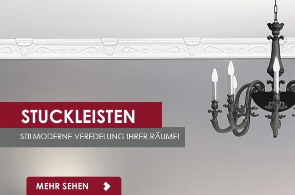 Stuckleisten dekorleisten decke : Stuckleisten rosetten säulen balken styropor stuck homestar shop