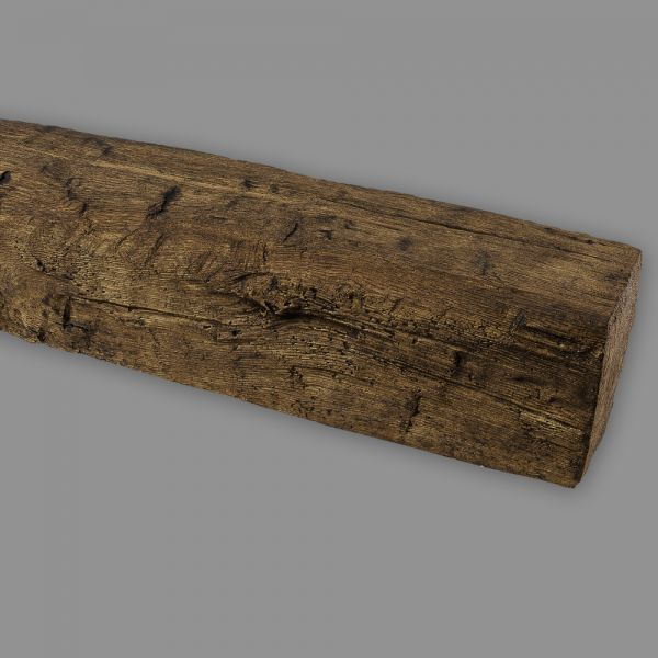 Deckenbalken Holz Eiche Imitat, 9 x 6 cm, Länge 3 m, dunkelbraun PU Balken