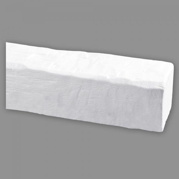 Deckenbalken weiß Holz Imitat, 9 x 6 cm, Länge 4 m (Deko Balken)