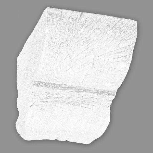 Konsole 20 x 13 cm für Deckenbalken Holzimitat weiß