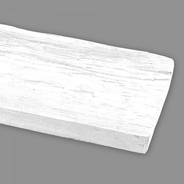 Wandbrett Holzimitat weiß, 130 x 30 mm, Länge 260 cm