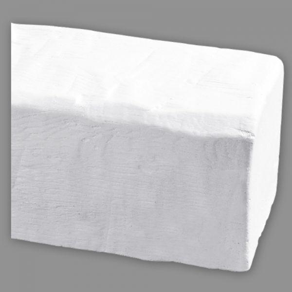 HOMESTAR Deckenbalken Holzoptik weiß 4m 190 x 170 mm aus Kunststoff