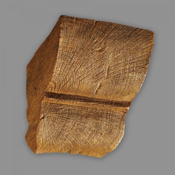 Konsole 12 x 12cm für Deckenbalken Eiche Holz Imitat hellbraun