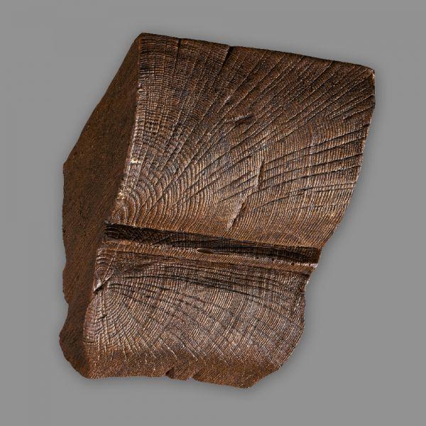 Konsole 12 x 12 cm für Deckenbalken Eiche dunkelbraun Holzimitat