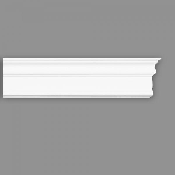Zierleiste D 120, 45 x 115 mm, Länge 2 m (Styropor Stuckborte)