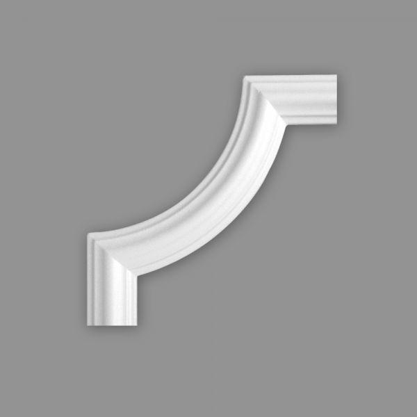 Zierleiste Viertelbogen BI 40, r= 120 mm, Set 4 Stück