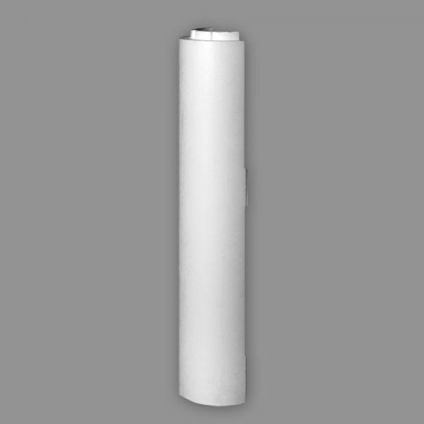 Deko Säule Kunststoff Halbsäule HS 22 R/H, Ø = 220 mm, Länge 835 mm